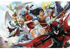 漫画壁纸,哥伦比亚特区,宇宙,鹰派女孩,蝙蝠女侠,力量,女孩,奇迹,
