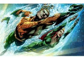 漫画壁纸,Aquaman,Mera,壁纸