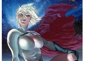 漫画壁纸,力量,女孩,白皙的,妇女,披肩,手套,夜晚,明星,空间,短的图片