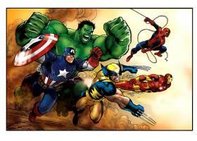 漫画壁纸,奇迹,漫画壁纸,船长,美国,赫然显现,金刚狼,熨斗,男人,