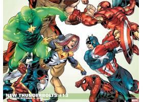 漫画壁纸,新建,雷电,独眼巨人,船长,美国,蜘蛛侠,熨斗,男人,壁纸