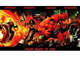 漫画壁纸,奇迹,漫画壁纸,幽灵,扶手,红色,赫然显现,X-23,壁纸