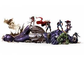 漫画壁纸,奇迹,漫画壁纸,托尔,船长,美国,赫然显现,蜘蛛侠,金刚狼