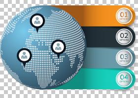 信息图表图表,PPT元素PNG剪贴画模板,标签,royaltyfree,业务,地球