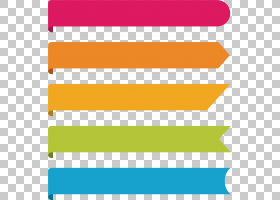 信息图表图表图标,创意PPT元素,五个什锦颜色线PNG剪贴画角度,3D