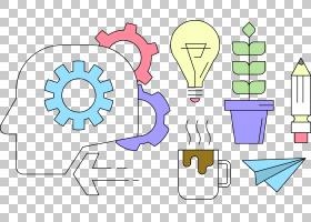 发明创意图标,灯泡发明了成功PNG剪贴画的灵感文本,灯,光效果,艺