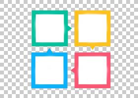 可扩展的图形图标,对话框,类型PPT装饰广场,四个什锦颜色框PNG剪