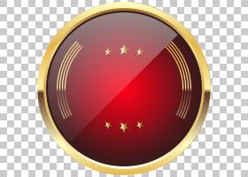 徽章红色,红色徽章模板透明,圆形红色和黄色徽标PNG剪贴画剪贴画,