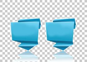 纸折纸Web横幅,两件事描绘了ppt图表PNG剪贴画信息图表,蓝色,角度