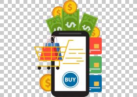 网上购物超市,手机超市购物消费PNG剪贴画文本,付款,徽标,电话图
