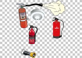 灭火器图标,红色灭火器PNG剪贴画技术,火灾报警,黑色,干燥,红色丝