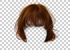 发型棕色头发假发,有吸引力的短发夹拉照片,金色假发PNG剪贴画免
