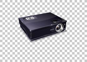 多媒体视频投影仪图标,黑色模型投影设备PNG剪贴画名人,3D计算机