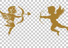 丘比特箭头剪影,丘比特的箭头PNG剪贴画爱,水彩画,心,人类,虚构人