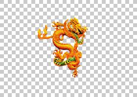 中国中国龙Budaya Tionghoa,龙PNG剪贴画龙,橙,电脑壁纸,虚构人物