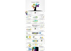 成长.教育教学创意树动画ppt模板