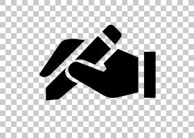 计算机图标笔,手写PNG剪贴画角,手,徽标,字体,黑色,黑色和白色,上