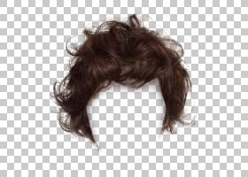 长发假发发型,黑发,短发夹,棕色假发PNG剪贴画免费Logo设计模板,