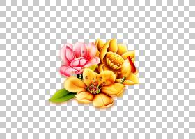 农历新年模板农历新年,金莲花PNG剪贴画插花,金色框架,新的,新的