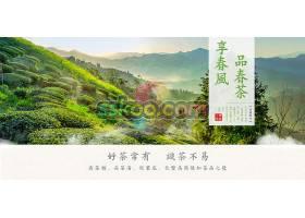 2020年茶园春茶上新电商海报banner模板