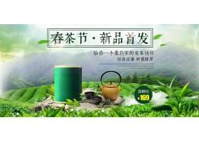 高山绿茶新茶上新海报