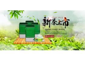 茶园背景绿茶上新海报