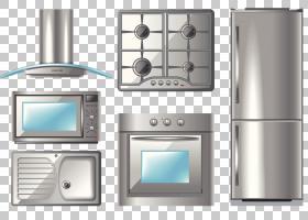 厨房家电排气罩,厨房用具系列PNG剪贴画杂项,厨房,电子产品,厨房