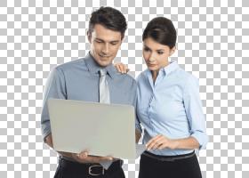 笔记本电脑平板电脑商人掌握数据管理,商务人士PNG剪贴画电子,服图片