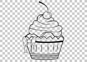 蛋糕结霜和结冰松饼着色书,蛋糕画PNG剪贴画白色,食品,单色,颜色,