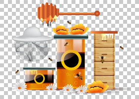 蜜蜂蜂窝,蜜蜂PNG剪贴画家具,食品,橙色,昆虫,封装的PostScript,