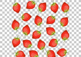 果汁草莓Aedmaasikas果子,被绘的草莓背景材料PNG clipart水彩绘