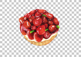 Tart Mousse草莓果子,草莓塔手绘画材料PNG剪贴画水彩画,fruttiDi
