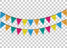 Pennon旗子横幅党旗布,三角旗子,蓝色和多彩多姿的旗布数字式艺术