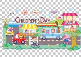 卡通,儿童节PNG剪贴画孩子,节日元素,海报,独立日,汽车,父亲节,车