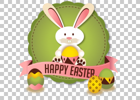 复活节兔子复活节彩蛋贺卡,复活节兔子徽章PNG剪贴画食品,节日元