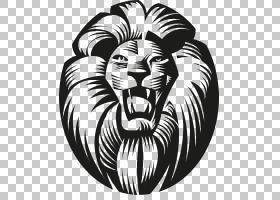 狮子纹身绘画艺术,Lionhead线PNG剪贴画哺乳动物,动物,猫像哺乳动