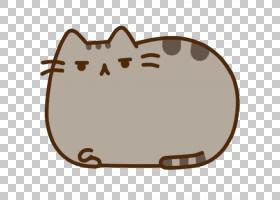 猫Pusheen贴纸小猫,猫PNG剪贴画棕色,动物,猫像哺乳动物,食肉动物