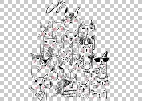 猫小猫的可爱,小猫背景PNG剪贴画漫画,白色,哺乳动物,猫像哺乳动