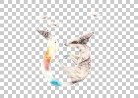 水彩绘画插画家,手彩色狐狸PNG剪贴画颜色飞溅,铅笔,画,动物,手,