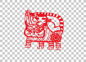 中国的生肖农历新年狗Papercutting马,黄道十二宫造纸老虎PNG剪贴