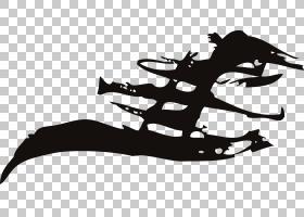 涂鸦墨水,古风涂鸦刷PNG剪贴画单色,拉丝,虚构人物,剪影,鞋,古埃图片
