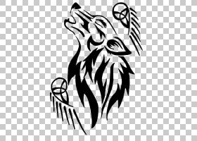 灰狼纹身,纹身PNG剪贴画杂项,化妆品,徽标,其他,脊椎动物,单色,头图片