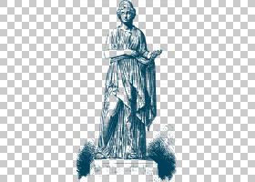 希腊希腊神话女神,蓝色希腊女神PNG剪贴画海报,时尚插画,虚构人物