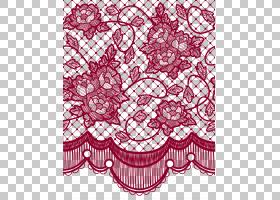 蕾丝假发彩色贴花蕾丝头发,透明蕾丝玫瑰装饰,红色花卉窗帘PNG剪