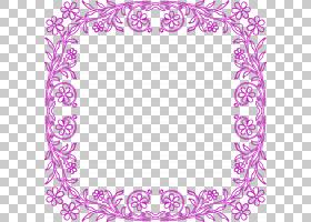 视觉艺术装饰画图案,花卉框架PNG剪贴画边框,紫,文字,摄影,矩形,