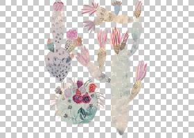 纸水彩画当代艺术艺术家,手绘彩绘银杏绘画植物仙人掌PNG剪贴画画