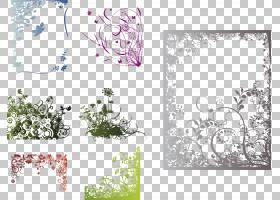 框架花卉花艺设计装饰艺术,创意复古花边中国PNG剪贴画边框,杂项,