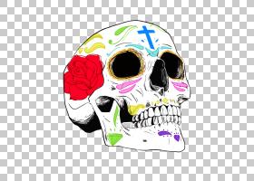 La Calavera Catrina Dia de Los Muertos:成人放松的头骨着色书图片