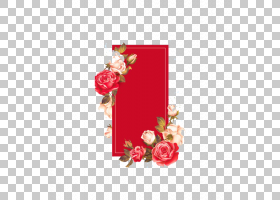 中国红色花装饰中国箱子样式PNG clipart杂项,插花,3D计算机图形