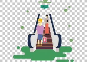 快速运输自动扶梯电梯楼梯,商场自动扶梯PNG剪贴画电子产品,购物